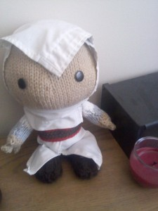 Altair Sackboy enjoying his new home